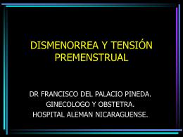 DISMENORREA Y TENSIÓN PREMENSTRUAL