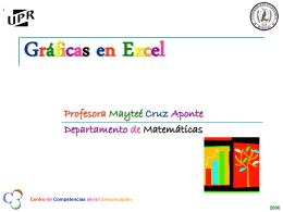 Gráficas en Excell - Universidad de Puerto Rico