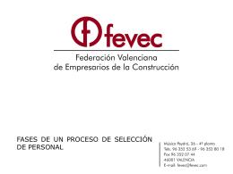 Diapositiva 1 - FEVEC | Federación Valenciana de
