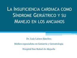 La Insuficiencia cardiaca como Síndrome Geriátrico