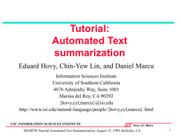 Automated text summarization