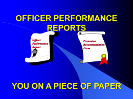Officer Performance Reports (OPR)