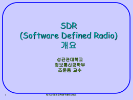 Software Defined Radio Introduction
