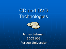 CD and DVD Technologies