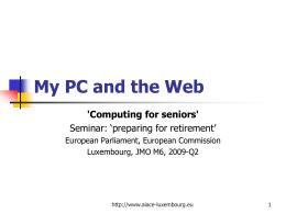 Mon ordinateur et la Toile