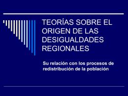 TEORÍAS SOBRE EL ORIGEN DE LAS DESIGUALDADES