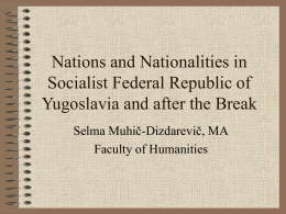 Nations and Nationalities in Socialist Federal