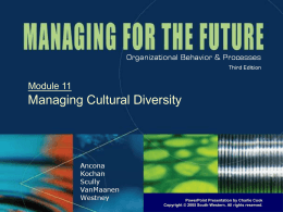 Managing for the Future 3e.