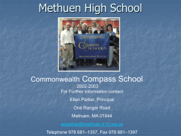 Methuen High School - Massachusetts Department of