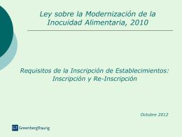 Ley sobre la Modernización de la Inocuidad