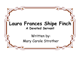 Frances Shipe Finch