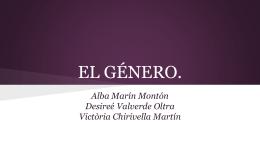EL GÉNERO.