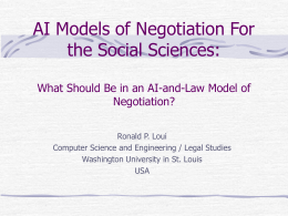 AI Models of Negotiation For the Social Sciences: