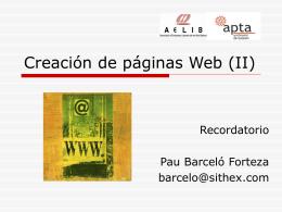 Creación de páginas Web - SITHEX, Consultoria