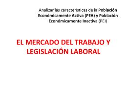 EL MERCADO DEL TRABAJO Y LEGISLACIÓN LABORAL