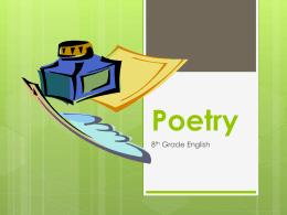 Poetry - Mesa Public Schools