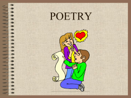 POETRY - Winston-Salem/Forsyth County Schools