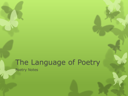 The Language of Poetry