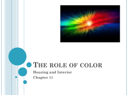 The role of color - Avon Community School