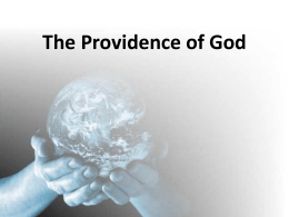The Providence of God - Knollwood Church of Christ