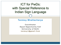 ICT for PwDs: with Special Reference to Indian