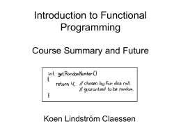 Introduction to Functional Programming Course