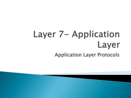 Layer 7- Application Layer