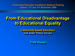 Education Equality Initiative - AONTAS