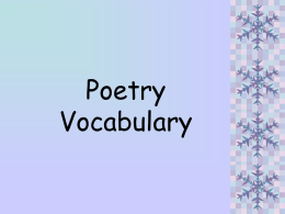 Poetry - Lockport City School District / Overview