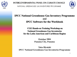 IPCC National Greenhouse Gas Inventory Programme
