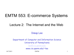 E-commerce systems - University of Pennsylvania