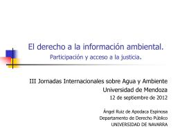 Régimen internacional, comunitario y estatal de
