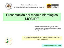 Presentación de MODIPÉ