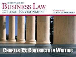 Mann-Roberts, Essentials BLAW, 11e