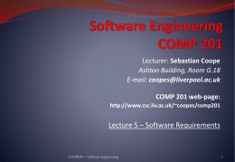 Software Requirements - University of Liverpool