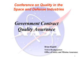 Government Contract Quality Assurance