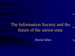 The Information Society and the future of the