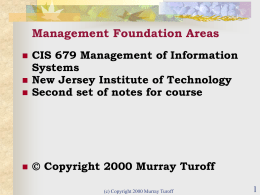 Management Foundation Areas