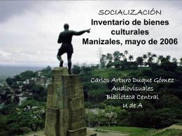 SOCIALIZACIÓN Inventario de bienes culturales
