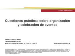 Cuestiones prácticas sobre organización y