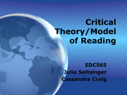 Theories & Models of Reading