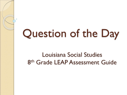 Louisiana 8th Grade Social Studies Assessment