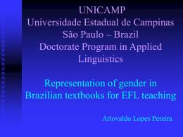 Universidade Estadual de Campinas Doutorado em