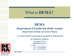 Wat is DEMÀ? - Learning Parents