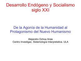 Desarrollo Endógeno y Socialismo siglo XXI