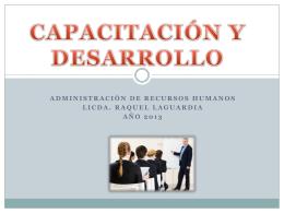 CAPACITACIÓN Y DESARROLLO