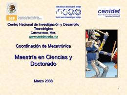 Presentación Coordinación Mecatrónica, CENIDET