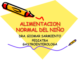 ALIMENTACION NORMAL DEL NIÑO