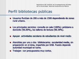 Perfil bibliotecas públicas