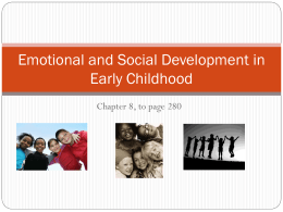 Emotional and Social Development in Early